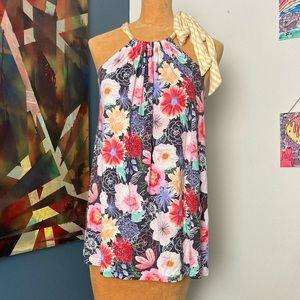 MATILDA JANE floral print high neck blouse